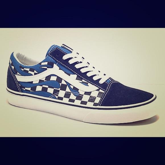 Vans Shoes | Blue Fire Vans | Poshmark